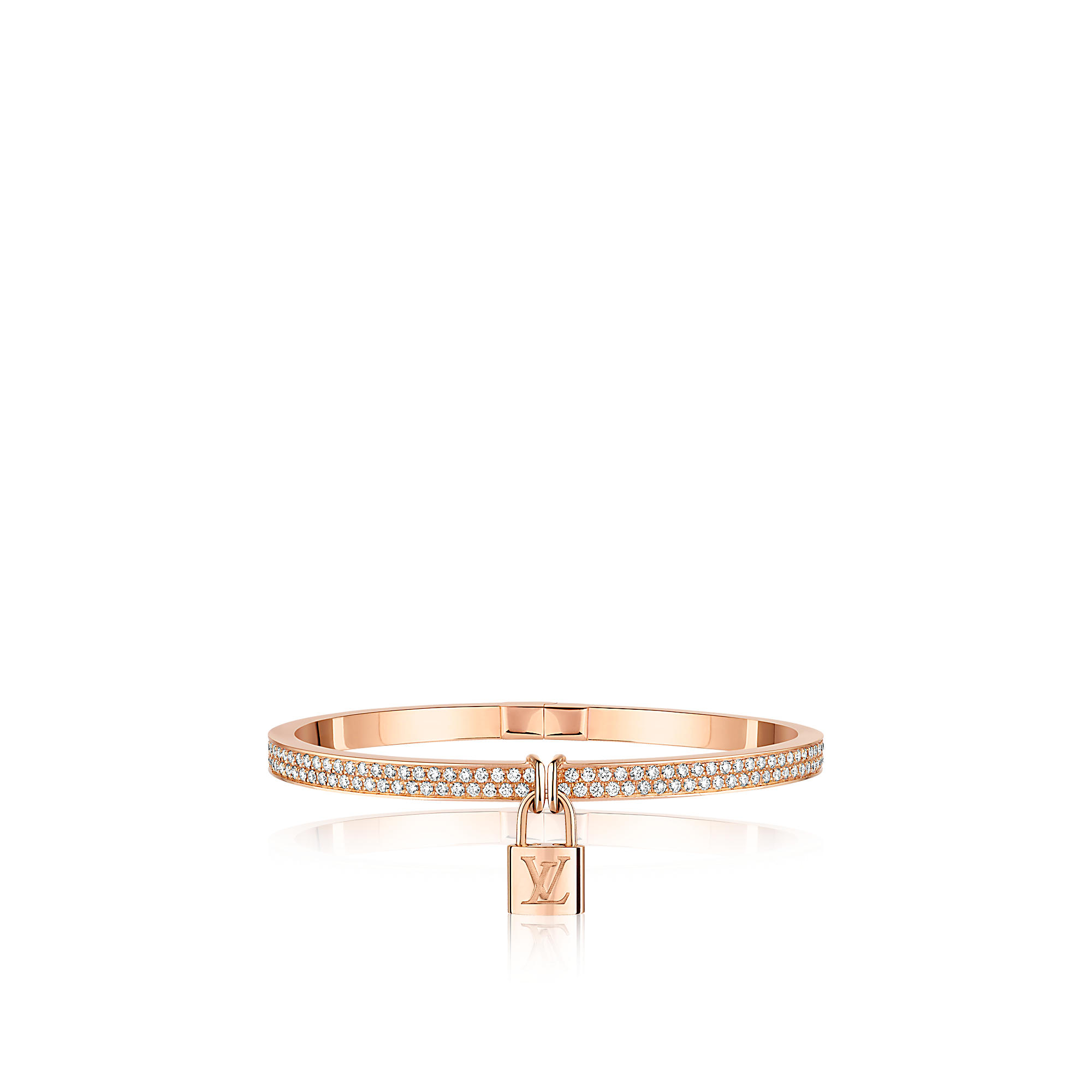 Louis Vuitton Q95417 Bracciale Lockit,oro rosa e diamanti
