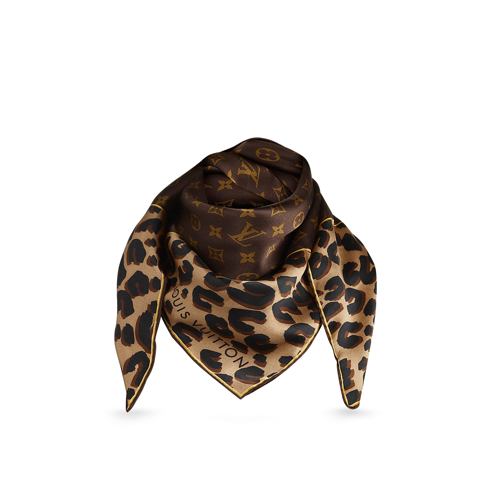 Louis Vuitton M72124 Foulard Leopard & Monogram
